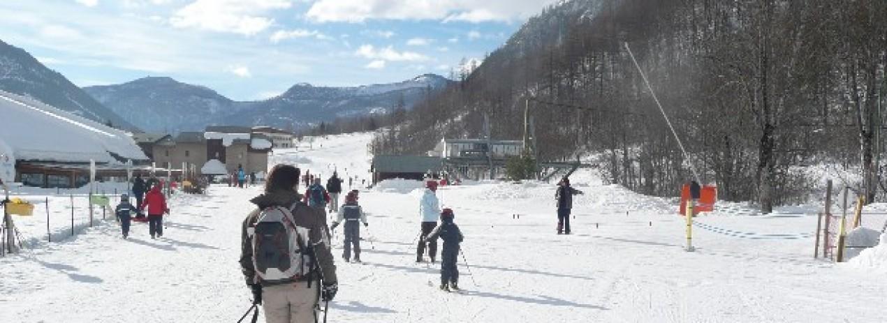 front de neige à Pelvoux